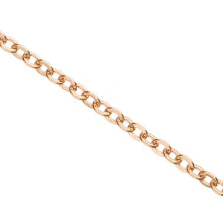 Gold Flat Cable Chain, Gold Finished Brass 2mm Sold per pkg of 5 Ft (Satin Flat Cable Chain)