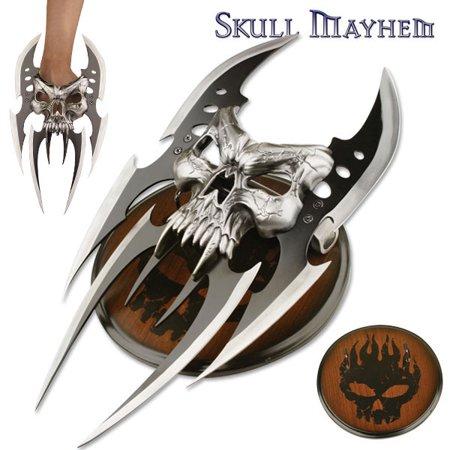 SKULL MAYHEM III FANTASY CLAW DAGGER WITH PLAQUE (Samurai Dagger)