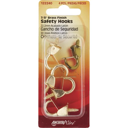 Hillman Anchor Wire 7/8 In. Brass Spring Safety Hook 122240 Pack of 10