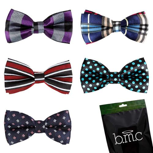 Bundle Monster Stylish 5in1 Adjustable Boys Bow Tie Tuxedo Collection - Set 1