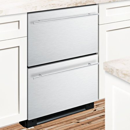 Summit Appliance Summit Built In 23 75 Inch 4 8 Cu  Ft  Drawer Refrigerator With Freezer And Icemaker