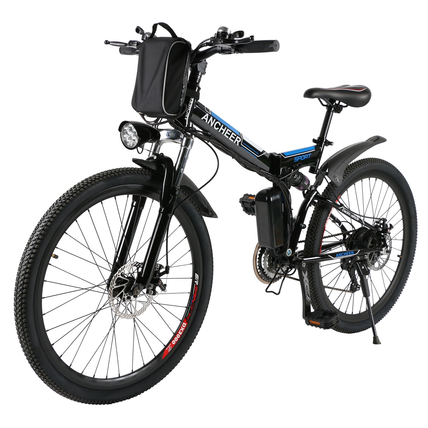 "Clearance! 26"" Folding Electric Mountain Bike Bicycle With Big Capacity 36V Lithium-Ion Battery"