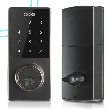 OAKS Electronic Deadbolt Smart Door Lock, LED Touch Screen Keypad, Bluetooth Smart Phone Enabled Keyless Access, Easy to (Sohomill Yl 99 Keyless Electronic Keypad Lock Manual)
