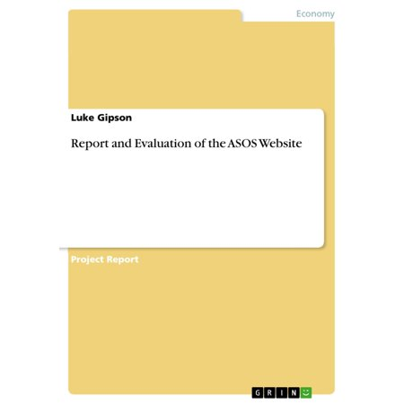 Report and Evaluation of the ASOS Website - eBook (Sonnenbrillen Online Website)
