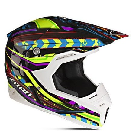 Zoan 521 188 Synchrony Mx Helmet  Monster Black Bl Red Ylw   2X