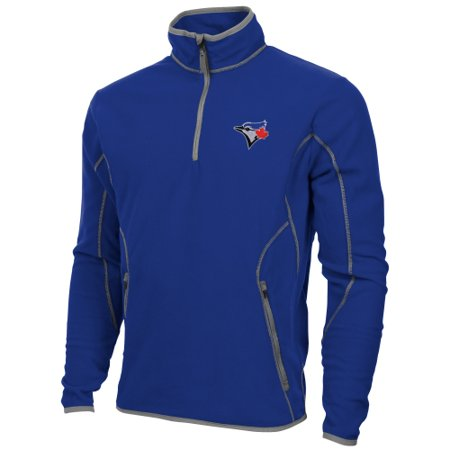 Antigua Toronto Blue Jays Ice Polar Fleece Quarter Zip Pullover Jacket - Royal Blue