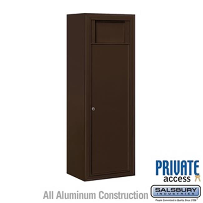 Salsbury 3812S-1BZF Single Column 1 Receptacle Bin Surface Mounted 4C Horizontal Receptacle Bin, Bronze - Front Access