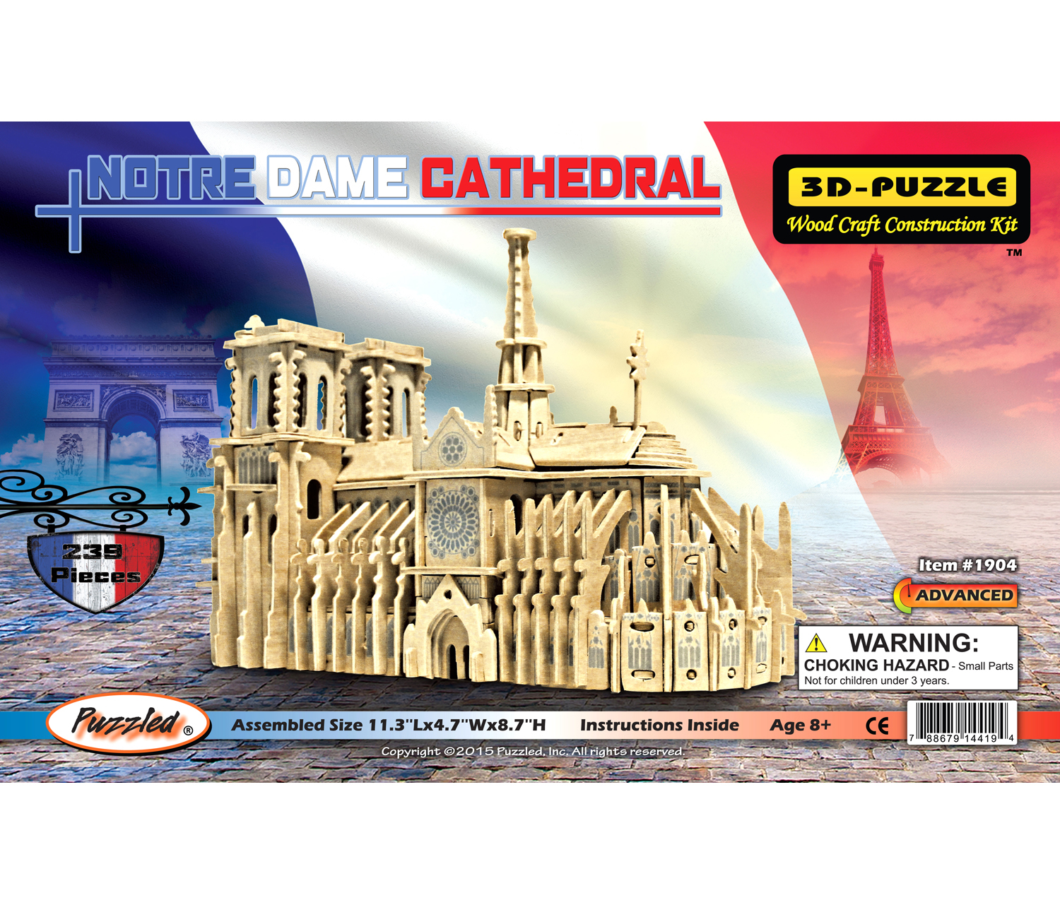 3D Puzzles Notre Dame Cathedral by Puzzled