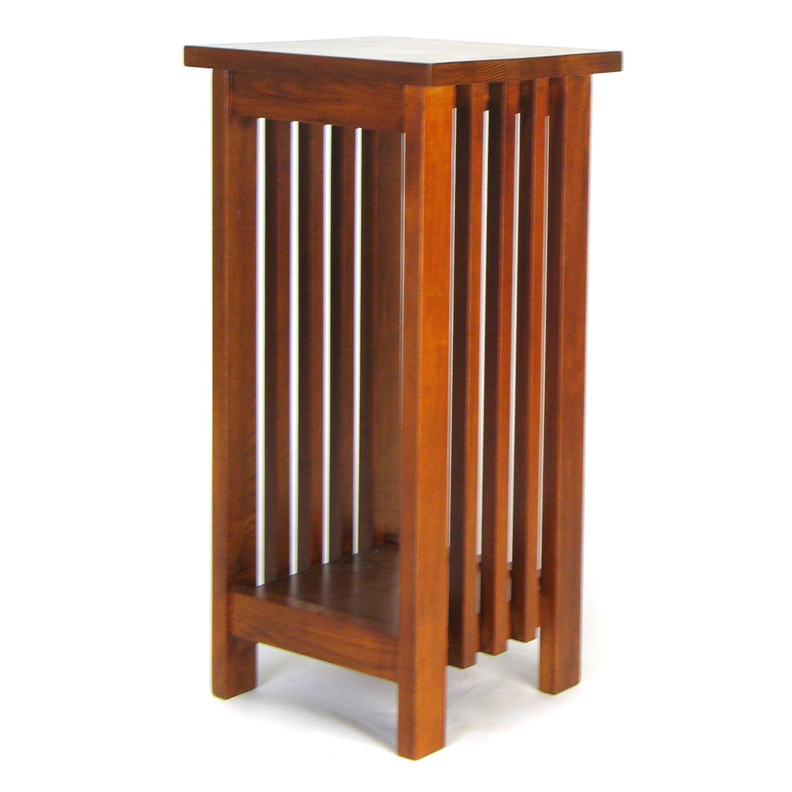Walnut Mission Plant Stand