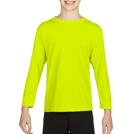 Gildan AquaFX Performance Kids Tagless Long Sleeve T-Shirt