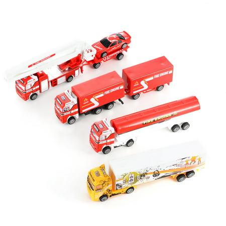 - 8PCS Diecast Metal Truck Models Pull Back Car Toys Play Set Vehicles Playset