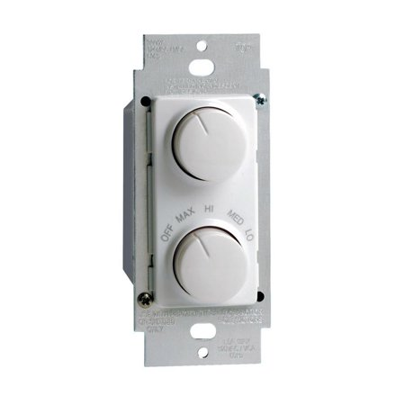 Leviton Evr Green - Leviton R22-RTD01-10W 1.5A 120V White Rotary Dimmer And Fan Speed Control