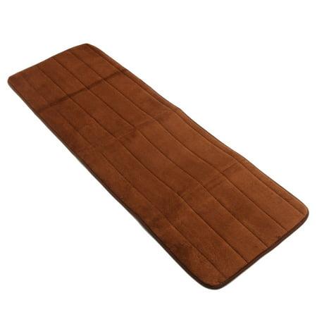 120x40cm Long Doormat Resistant Water Absorbent Memory Foam Bottom Non-slip Door Floor Rug Mat Shower Bathroom Kitchen Bedroom Soft Carpet, Coffee ()