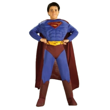 DC Comics Boys Superman Returns Muscle Chest Costume Jumpsuit Cape Boot Tops](Blues Clues Costume)