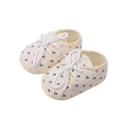 Infant Baby Girl Casual Breathable Soft Sole Lace Up Crib - Lace Crib Shoe