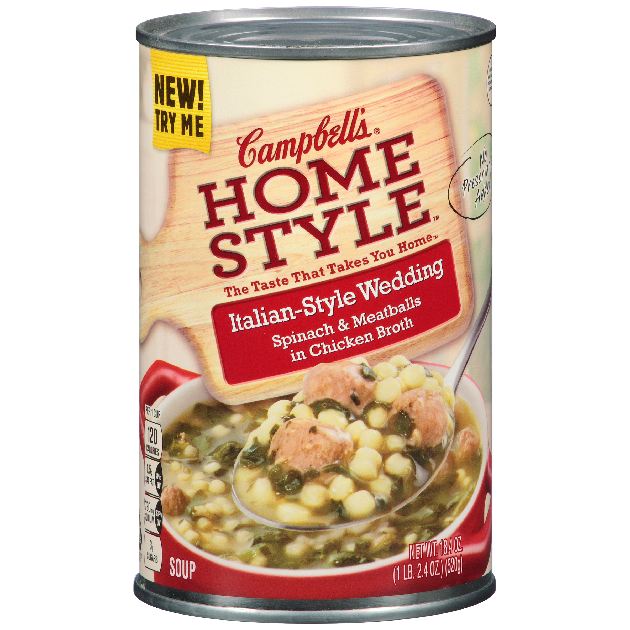 campbells home style italian style wedding soup 184 oz walmartcom