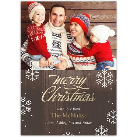 Christmas Cards Cheap (Brilliant Season - 5x7 Personalized Christmas)