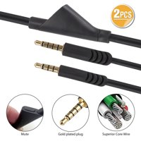 EEEKit 6.5 Feet Replacement Headsets Audio Chat Cable Cord Inline Mute Volume Control Cable Fit for Astro A10 A40 Gaming Headsets Compatible with Xbox One PlayStation 4 PS4 PC Smartphone