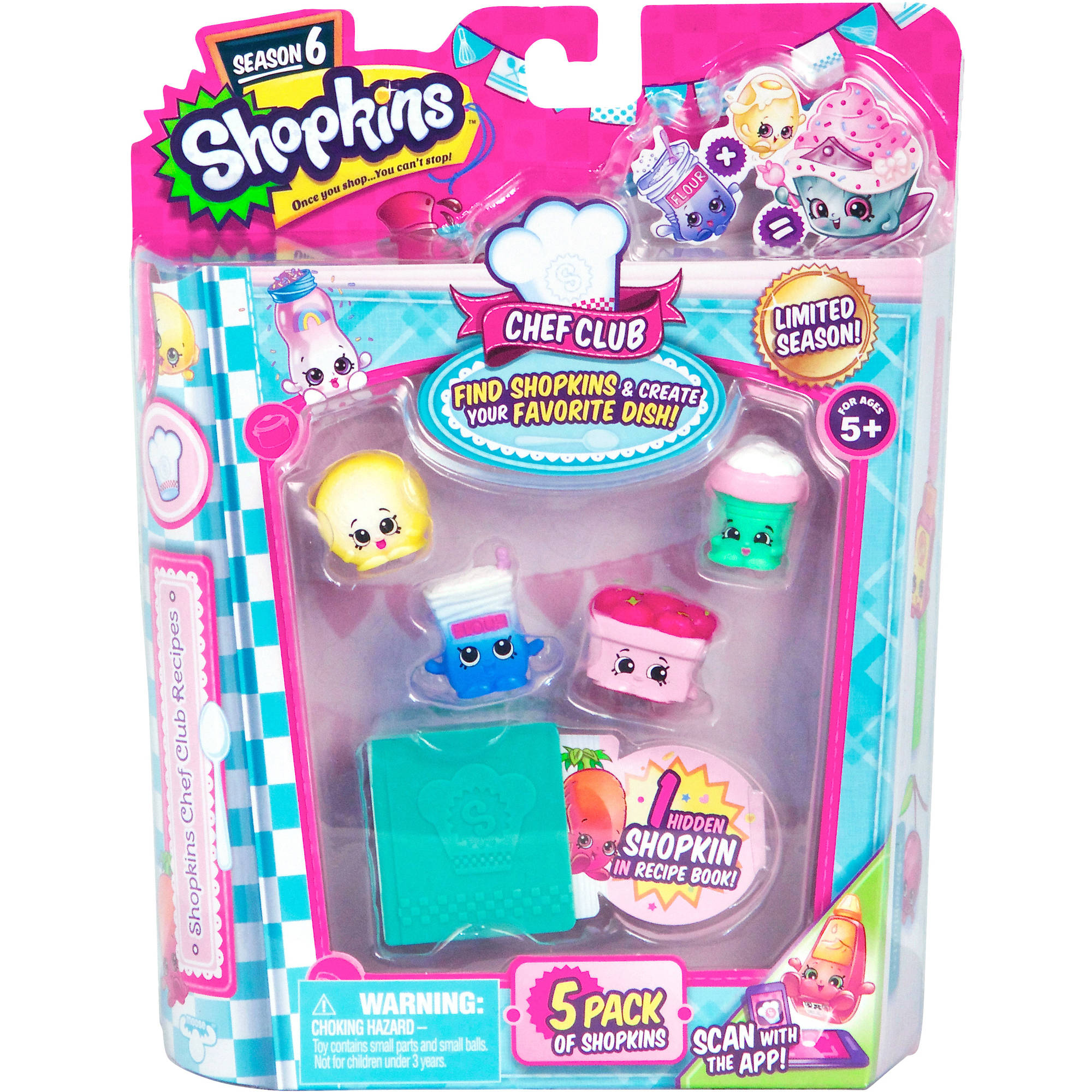 Shopkins Season 6 Chef Club, 5 Pack