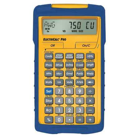 Calculated Industries 5070 Electrical Calculator 8 1 4 X 6 In Lcd
