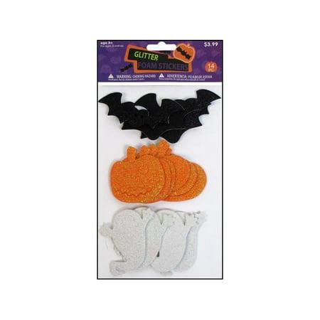 SPC Foam Shapes Halloween Glitter Assorted (Halloween Foam Crafts)