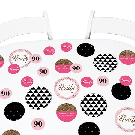 Chic 90th Birthday - Birthday Party Table Confetti Set - 27 Count](18th Birthday Confetti)