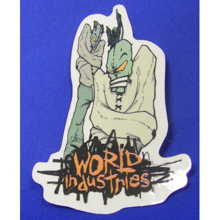 WORLD INDUSTRIES Skateboard Sticker STRAIGHT JACKET Classic - Straight Jackets