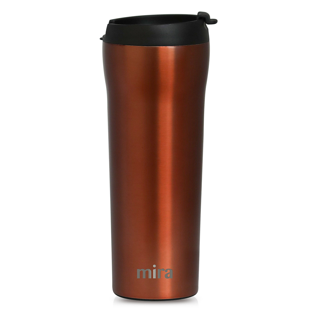 MIRA 16 oz Stainless Steel Insulated Travel Mug for Coffee /& Tea 2 Pack