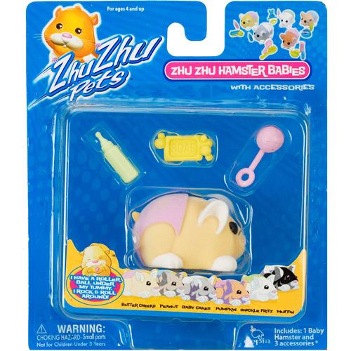 Zhu Zhu Pets Baby Hamster Toy, Butter Cheeks