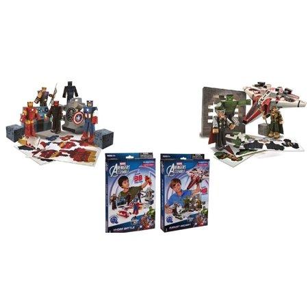 marvel paper craft bundle 2 items team heroes avengers pack 30