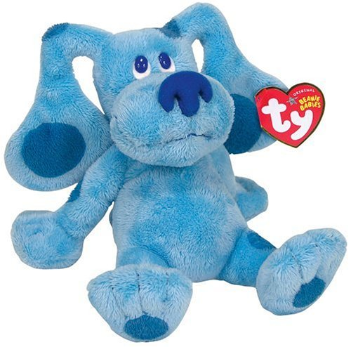 "Cp TY Beanie Babies - Blues Clues The Blue Dog Small 6"" Plush"