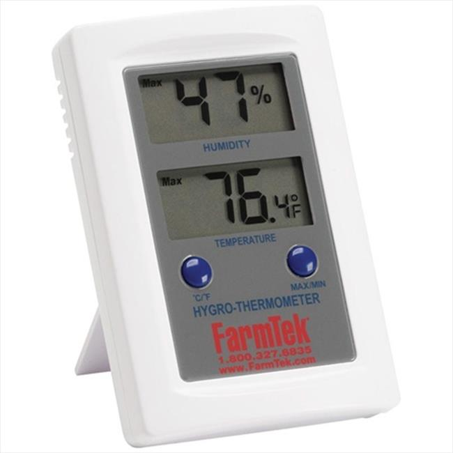 TekSupply 102447F FarmTek Mini Digital Temperature & Humidity Meter