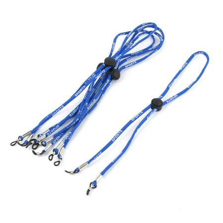 - 5Pcs Nylon Rope Strap Rubber Loop Tip Glasses Retainer Holder Blue