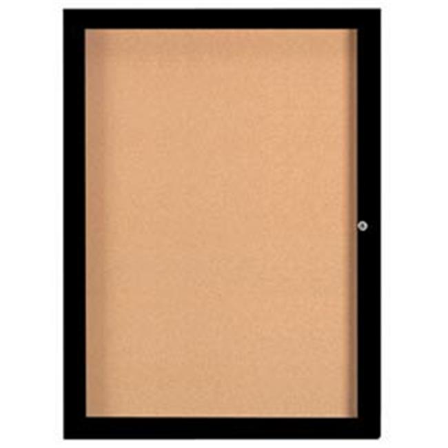 Aarco Products Enclosed Aluminum Bulletin Board with Heater - Anodized