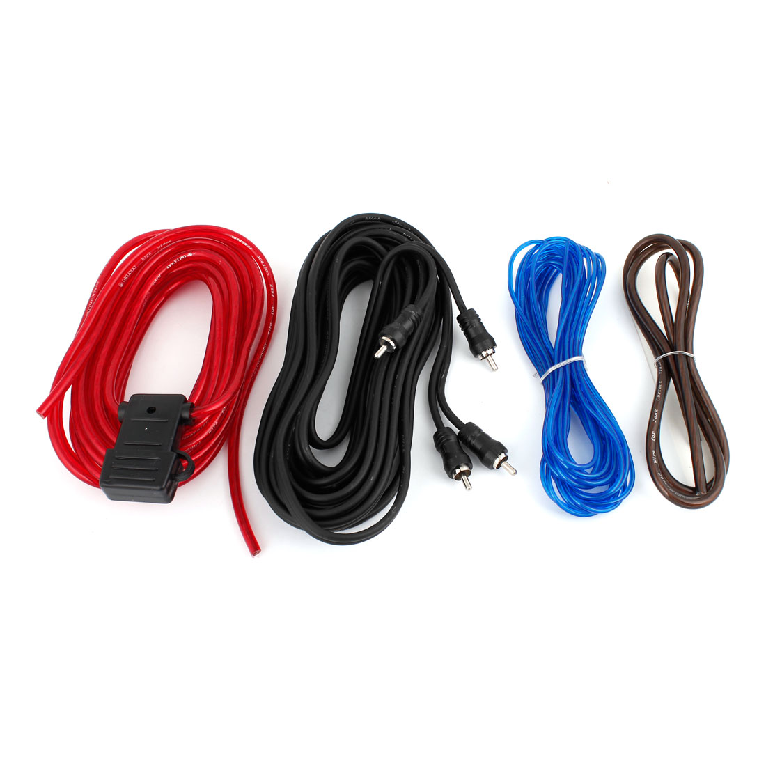 Van Car Truck Amplifier RCA Audio Speaker Wiring Cable Wires Kits