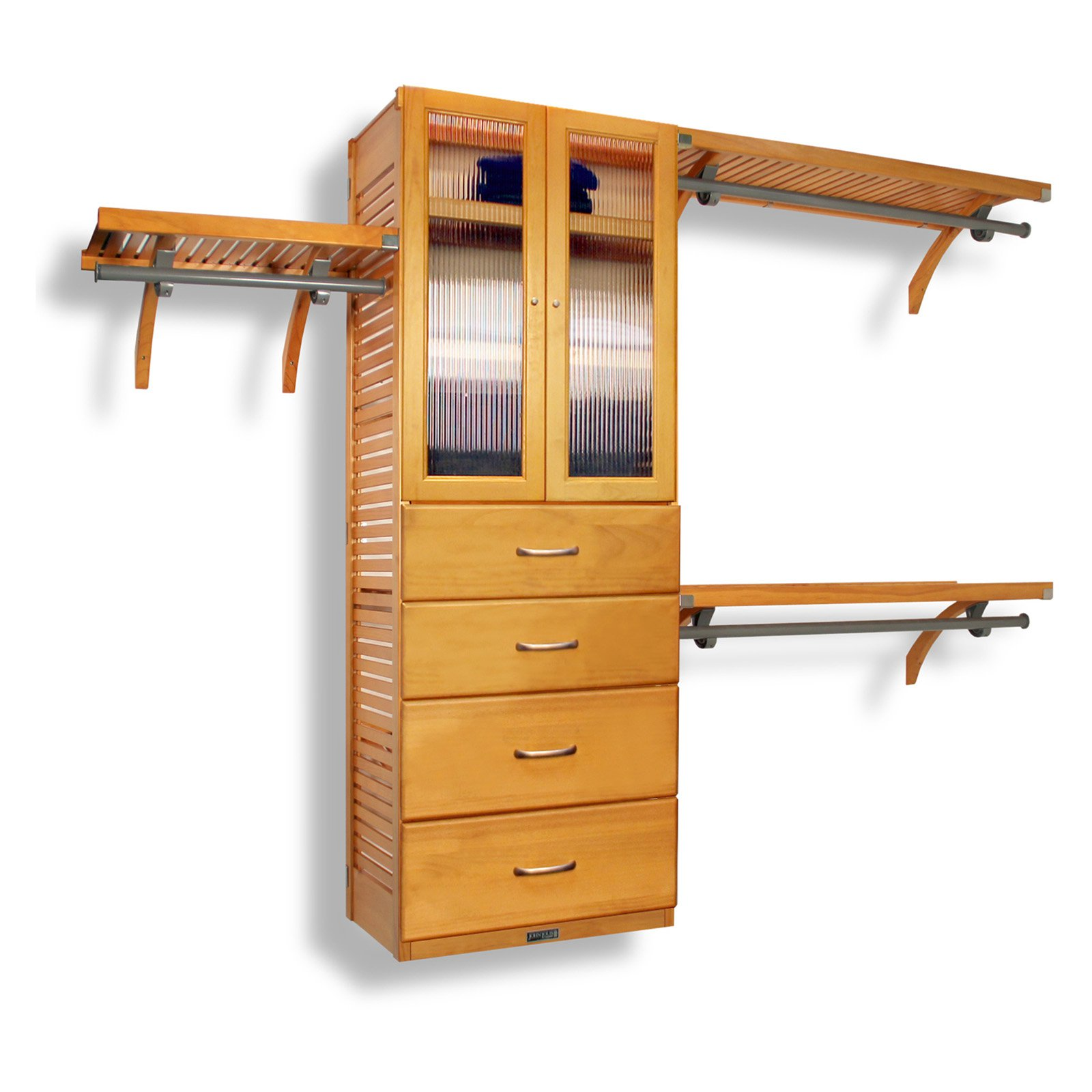 Deluxe Closet System Door and Drawer Kit Honey Maple