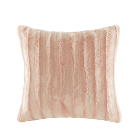 Home Essence York Faux Fur Square Pillow ()