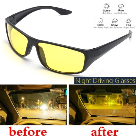 Night Vision Driving Glasses Polarized Anti-glare Clear Sun Glasses Men & Women (Latest Sunglass Fashion)
