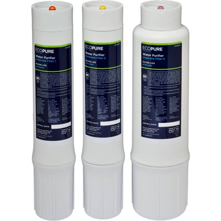 EcoPure Water Purifier Under Sink Replacement Filter Set (ECOWPF) | NSF Certified | Fits ECOP40 System | 6-Month Filter Life