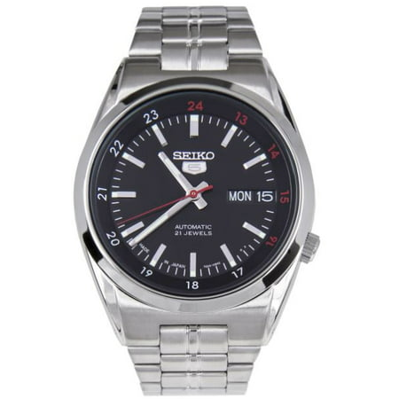 5 Automatic SNK571J1 Black Dial Stainless Steel Men's Watch