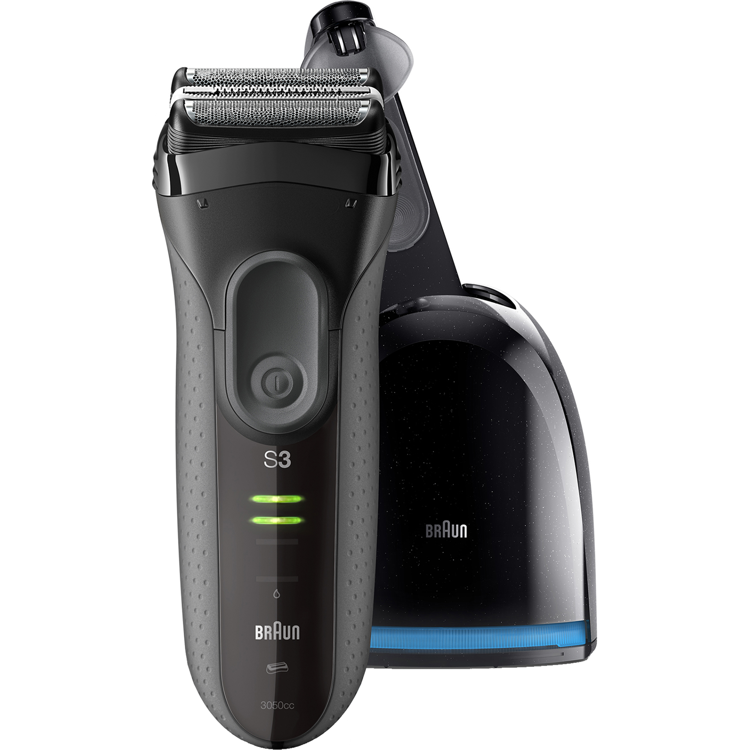 Braun Series 3 ProSkin 3050cc ($10 Mail In Rebate Available) Electric Shaver for Men / Rechargeable Electric Razor with Clean&Charge System, Black