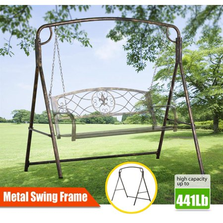 Topeakmart Iron A Frame Porch Swing Stand Bronze Finish,Capacity: 441 Lb ()