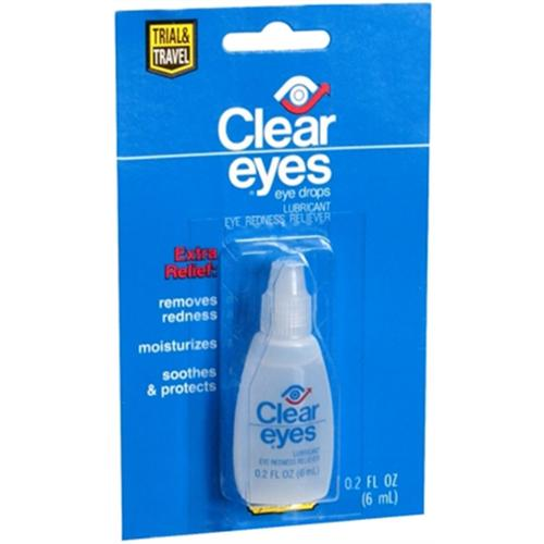 Lil' Necessities Clear Eyes Redness Relief Handy Pocket Pal 0.20 oz (Pack of 6)