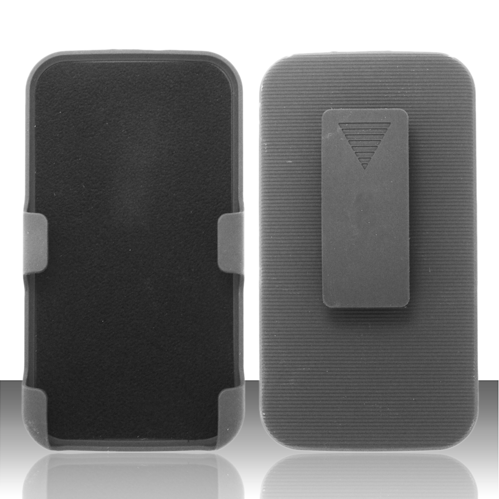 For Samsung Galaxy S4 i9500 - Rubberized Holster - Black