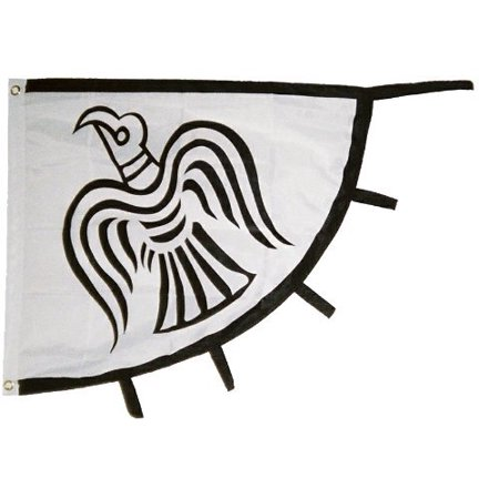 Viking Raven Flag Vikings Banner Pennant 31x36 inch Norse Pirate Ship, Odin By Odin