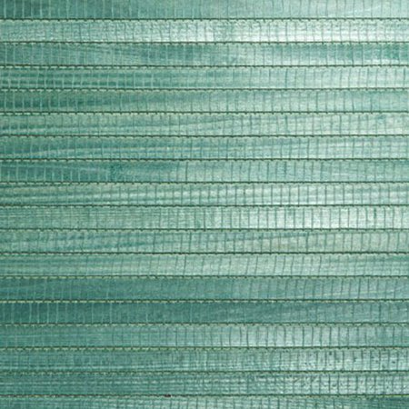 Kenneth James Kumi Green Grasscloth Wallpaper