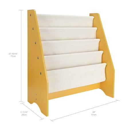 "4 Tier Kids Bookshelf Book Rack Storage Sling Bookshelf Toy Display Shelf, 24"" x 11 7/16"" x 27 15/16"" - image 4 of 6"