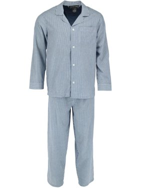 Geoffrey Beene  Long Sleeve Long Pants Patterned Pajama Set (Men's)