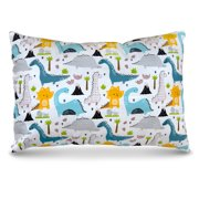 Hypoallergenic Toddler Pillow - Small Pillow for Kids - 4 Patterns to Choose From! - Dozin' Dinosaurs!