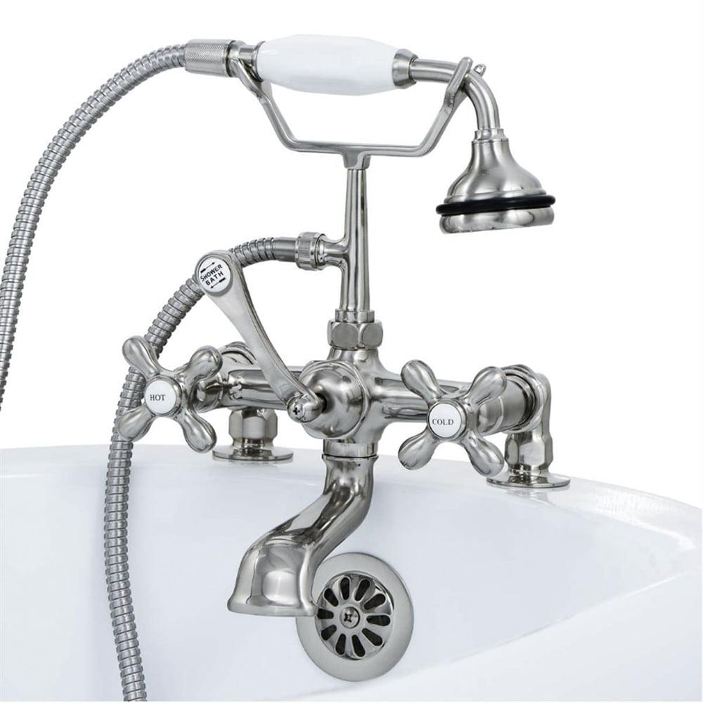 Cambridge Plumbing Clawfoot Deck Mount Tub Faucet with Ha...